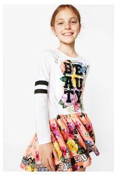 Vestido de manga larga para niña - Abiyán   Desigual.com