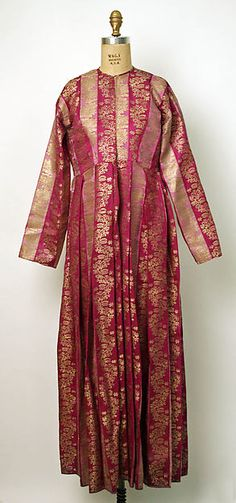 Armenian silk brocade robe, 1881