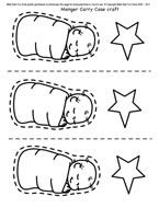New! Baby Jesus Carry Case - sample of craft page for preschoolers' Christmas crafts for Sunday school