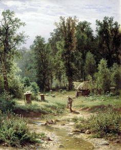 Shishkin Ivan - Apiary in the woods. 200 Russian painters • download painting • Gallerix.ru