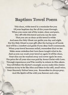Baptism Towel Idea