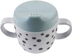 Training cup Happy Dots Blue Done by Deer - Kleine Fabriek