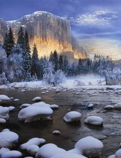 Winter glow in Yosemite
