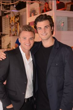 Brett Davern and Beau Mirchoff attend the Season Two finale event for Awkward. at The Colony in Los Angeles, California. Hollywood Men, Hollywood Actresses, Brett Davern, Awkward Mtv, Cute White Guys, Mtv Shows, Beau Mirchoff, Chad Michael Murray, Actors
