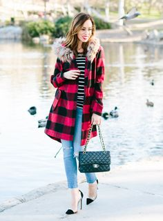 Red and black plaid = holiday perfection