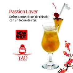 Passion Lover es nuestro refrescante cóctel elaborado a base de Chinola con un toque de ron para aportarle cuerpo y un sabor exquisito. #NewAndHot #Cocteles #VenParaYAO