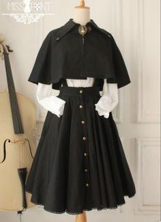 Cosplay Outfits, Edgy Outfits, Pretty Outfits, Pretty Dresses, Beautiful Dresses, Cool Outfits, Kawaii Fashion, Lolita Fashion, Old Fashion Dresses