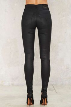Levi's Mile High Super Skinny Jeans - Coated Onyx - Denim | Grunge | Back In Stock | Best Sellers | Bottoms | Skinny