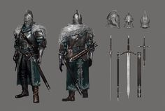 Faraam Armor. Dark Souls 2 - Concept Art. Property of From Software. Complete set: http://ahatupus.tumblr.com/tagged/darksouls2artwork