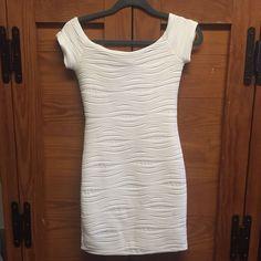 Wet Seal White Wave Mini Dress