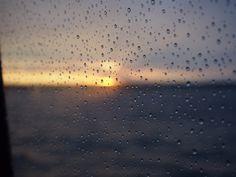 Morning blues at the sea