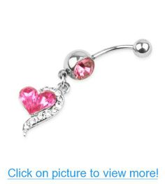 Rhinestone Crystal Heart Barbells Navel Belly Bar Button Ring Body Piercing Daith Piercing, Body Piercing, Ear Piercings, Septum Ring, Anchor Rings, Piercings For Girls, Belly Bars, Labret, Girl Body