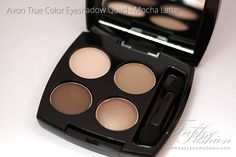 Avon True Color Eyeshadow Quad - Mocha Latte. I got this after seeing it being used on Reese Weatherspoon in a magazine and liking the result. The colours are beautiful and versatile. I can wear it heavy or just light enough for day to day use.