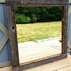 Just added this to my etsy site. Too heavy to ship but was so happy with how this dark grey board turned out! Check it out on etsy by searching RusticWorksDesigns! Dark Grey, Searching, It Works, Frames, Ship, Rustic, Photo And Video, Mirror, Board