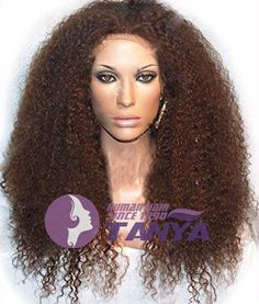 20-Full-Front-Lace-Wigs-100-Brazilian-Remy-Human-Hair-Kinky-Curly-density-150