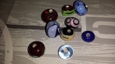 mijn eerste zelf gemaakte glass beads