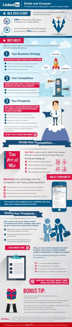 Divide and Conquer: The Other Secret to Making Your LinkedIn Presence Matter - #infographic