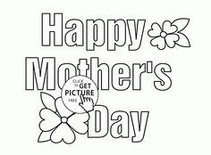 Happy mothers day coloring pages for kids Happy Mothers Day Pictures, Mothers Day Poems, Mother Pictures, Funny Mothers Day, Happy Birthday Coloring Pages, Cute Coloring Pages, Disney Coloring Pages, Free Coloring, Kids Coloring
