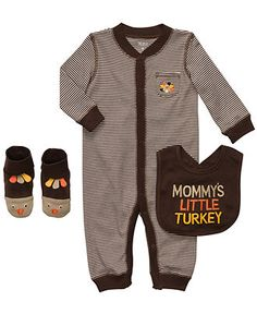 Carters Baby Set, Baby Boys Mommy's Little Turkey Thanksgiving 3-Piece Set - Kids Newborn Shop - Macy's