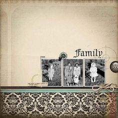 Family...a beautiful, simple heritage page