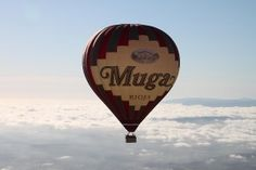 Hot-air balloon ride · From above - Muga Winery Balloon Rides, Hot Air Balloon, Bodegas Muga, Balloons, Spain, Wineries, Wine, Clouds, Diary Book