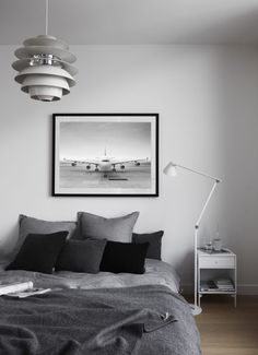 Aviation Decor Aircraft Decor Airplane Art Print Black And