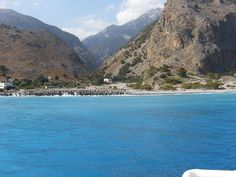The Samariá Gorge Walk, #Crete ends at the sea. #Greece More: http://en.wikipedia.org/wiki/Samari%C3%A1_Gorge