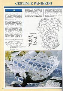 "Photo from album ""Prestigio collana: Bomboniere Inamidate - on Yandex. Crochet Vase, Diy Crochet Basket, Crochet Ornaments, Crochet Gifts, Crochet Motif, Crochet Doilies, Crochet Patterns, Crochet Decoration, Beading Patterns Free"