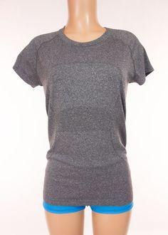 LULULEMON Run Swiftly Tech Short Sleeve 10 M Medium Heathered Gray Tank Top #Lululemon #ShirtsTops