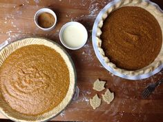 Pumpkin Chess Pie Sub half-n-half or heavy cream with some rum extract for egg nog (or maybe leave rum extract out)