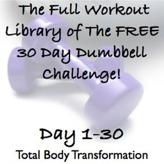 30 day dumbell challenge