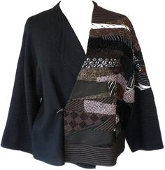 Minako: Patchwork kimono jacket. A good project for recycled garment bits