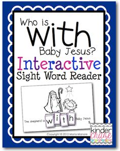 FREE Nativity-based Interactive Sight Word Reader