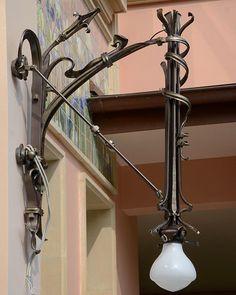 Art Nouveau Hanging lantern by Nikolay Tabachkov from Artmetallab