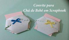 Convite para Chá de Bebê em Scrapbook