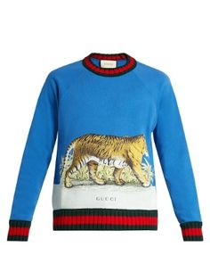 b7809e18ba2 Click here to buy Gucci Walking Tiger-print cotton sweatshirt at  MATCHESFASHION.COM Buy