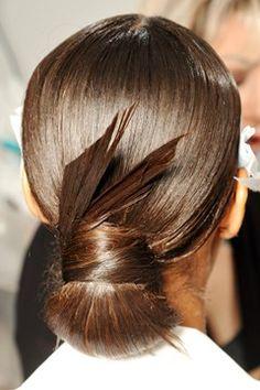 Spring 2013 Runway hair / origami / Updo / bun / hairstyle / formal