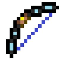 A gravity bow is a bow that can not be crafted, but can be found in a treasure star. Espada Minecraft, Minecraft Posters, Minecraft Images, Minecraft Sword, Minecraft Blueprints, Hama Beads Minecraft, Minecraft Pixel Art, Minecraft Party, Minecraft Skins