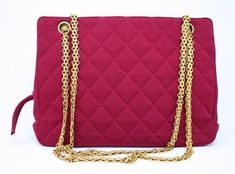 f9ec0d342ea82e Rare Vintage CHANEL F/W 1996 Pink Bag at Rice and Beans Vintage Vintage  Chanel