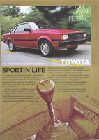 Toyota Corolla Sports Hardtop 1982 Ad Picture