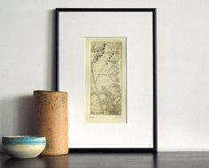 Original Etching MISTY MORNING Abstract Tree Wall by AnaDoraArt, $25.00