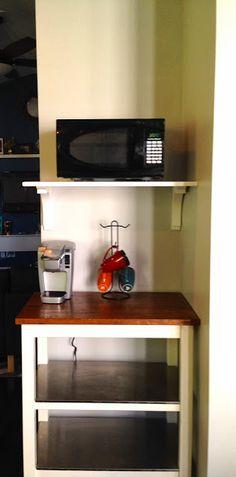 DIY Microwave Shelf