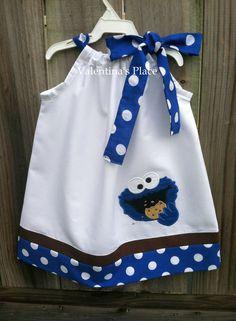 New Cookie Monster pillowcase dress. $28.00, via Etsy.