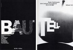 I really like Swiss graphic designer Armin Hofmann's (1920) use of enlarge type. The type actually becomes the image.