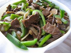 Chinese-American favorites. Possible ways to use surplus of green peppers from CSA.