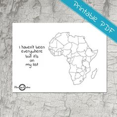 Africa Planner Stickers, Map of Africa, Map of Africa Printable,  Sticker Printable