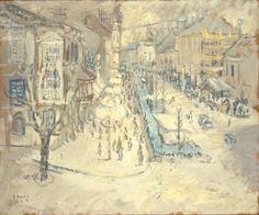 Zoran Mušič (Slovene, 1909-2005), Evening City (Alexander Street), 1939. VISION