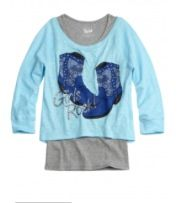 Crop over long sleeve icon tee $36.90 reg price from justice