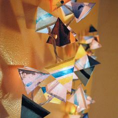 Paper Pyramid Lanterns - Stones and Crystals