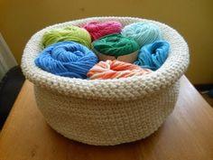 Round Crochet Basket, tutorial